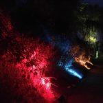 Geheimnisvolle und farbenfrohe Illumination bei den Wasserspielen in Templin